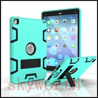Wholesale S3 Mini Rubber - For Ipad pro 9.7 10.5 2017 air 2 3 4 mini Galaxy tab S3 Shockproof KickStand Military Extreme Heavy Duty case
