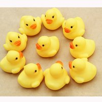 20Pcs / Bag Baby Bath Toys Baby Kid Cute Bath Rubber Ducks Дети Squeaky Ducky Water Play Toys
