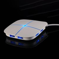 Wholesale Combo Memory Card - High Speed 6 Ports Combo USB 2.0 Hub Adapter with USB Power Adapter Memory Card Reader with LED Breathing Light JN-u400