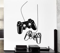 Wholesale Video Arts - Joystick Wall Sticker Gamer Video Game Play Vinyl Decal Art Mural Poster Home Decoration VInyl House Bedroom Playroom Wall 30*57 cm