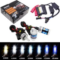 Wholesale Xenon 55w Ballast - 35W 55W 12V HID Xenon Conversion KIT Headlights Free Canbus H1 H3 H7 3000 4300k 6000 8000 10000K 12000K Lighting Slim Ballast KIT Bulbs Set