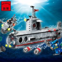 Wholesale Enlighten Submarine - ARMY SERIES SUBMARINE RUSH BOAT-- ENLIGHTEN BLOCKS SLUBAN BRICKS 816