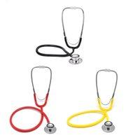 Wholesale Stethoscope Wholesale - Dual Head EMT Stethoscope Cardiology Stethoscope for Doctor Nurse Vet Medical Student Health Medical Supplies Home Care ZA2406