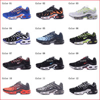 Wholesale Tn Sneakers - Cheap Hight Quality Brand New Air Sports TN Running Shoes For Men Black White Mens Athletic jogging Tennis Shoes Grey Man Training Sneakers