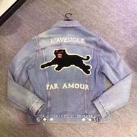 Wholesale Denim Jean Jacket Coat - Fashion Men Denim Jackets Long Sleeve Man Jean Coats Men's cowboy jacket