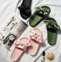 тапочки оптовых-Рианна же пункт лук тапочки женская мода обувь толстым дном прохладно тапочки