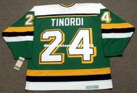 ingrosso personalizzato Throwback Mens MARK TINORDI Minnesota North Stars 1989 CCM Vintage Away Cheap Retro Hockey Jersey