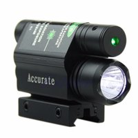 Tactical Green Laser Beam Sight Lanterna LED para Gun Rifle Pistol Hunting