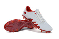 Wholesale Wholesale Indoors Football Shoes - 2017 New Neymar JR Soccer Cleats Hypervenom Phinish FG Neymar x JR White Red Low Best Soccer Shoes 2017 CR7 Indoor Shoes