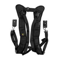 Wholesale sling belt for dslr for sale - DHL FREE Black Camera Double Shoulder belt Sling Backpack straps Quick Rapid Strap for DSLR Digital SLR Cameras