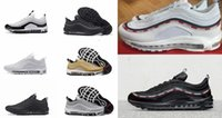 Wholesale Increase Running Speed - 2017 Max 97 3M REFLECTIVE OG  UNDFTD UNDEFEATED BLACK SPEED RED GREEN speed red-white Running Shoes Mens Trainers Sport Shoe