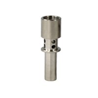 Wholesale flux nail online - Titanium flux Nail mm mm mm with holes for glass bong smoking water pipes electronic cigarette