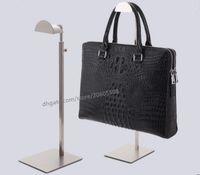 Wholesale standing purse rack for sale - Fashion high quality stainess steel handbag display stand wig purse bag display holder rack shelf adjustable hanger hooks