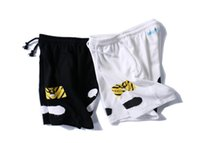 Wholesale Off White Shorts Summer Streetwear Religion Casual Off White Shorts Skateboard Harajuku Fashion Striped Black Off White Shorts