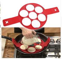 Wholesale Mould Make - Flippin Fantastic Nonstick Pancake Maker Egg Ring Maker Easy Way To Make Breakfast Kitchen Baking Moulds 100pcs DHL Free Shipping
