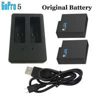Wholesale Gopro Batteries - New Genuine OEM Gopro AHDBT-501 battery+Charger For Hero 5 HD Black Silver