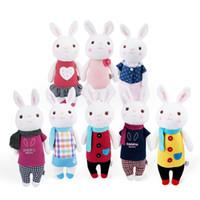 Wholesale Toys Tiramisu - Tiramisu Rabbit Plush Toys Metoo Doll Kids Gifts 8 Style 35cm Bunny Stuffed Animal Lamy Rabbit Toy Birthday Christmas Gifts