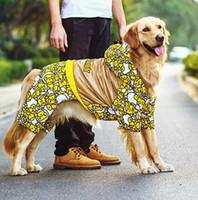 Wholesale Dog Clothes Pet Harness - Large dog Pet dog clothes dog clothing harness sweater Suit four-legged sweater spring and autumn Wholesale pet clothing 4-296