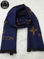 Wholesale Mens Warm Wraps - Warm Winter Business Casual luxury brand designer Cashmere Scarf Men horse carriage mens Shawl Wrap scarves foulard 180*30cm