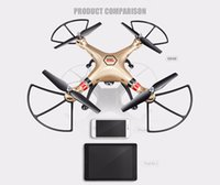 Wholesale Syma Rc Helicopter Free Shipping - Aerial Flight Camera Quadcopter Helicopter Drones 2.4G 4CH RC 1080P 8MP HD SYMA Professional UAV X8HW Free Shipping 2107301