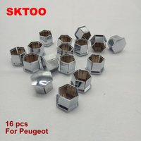 Wholesale peugeot wheel caps - Wheel Nut Rim Cover Tyre Screw Cap Decor For Peugeot 207 301 307 308 408 508 3008 for Citroen C4l C5 C2 16Pieces(Free shipping)
