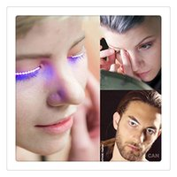 Vente en gros LED Faux cils Fake Eyelashes LED Light Party Supplies Ambiance Props 1 Pairs Singer Nightclub Eyelid Free DHL