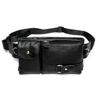 Wholesale 2017 designer Fashion vintage waist packs bag men genuine cowhide leather waist bag leather small bags for male sport packs belt bag R012