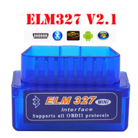 10 pz / lotto ELM 327 V1.5 Bluetooth Strumento di diagnostica del veicolo OBD2 OBD-II ELM327 Car Interface Scanner funziona su Android