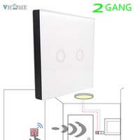 Wholesale Garage Door Lights - Wholesale- Vhome RF433MHZ Switch shape smart remote control intelligen+EUstandard Touch Light ,Use for garage door,electric curtains Switch