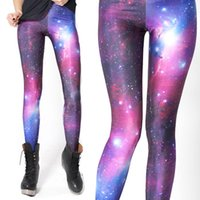 Wholesale jeggings pants galaxy - Wholesale- Red Galaxy Adult Women Legging Woman Leggings Jeggings Legings Fitness Legging Pant Printed Leggings