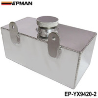 Wholesale Windscreen Washers - EPMAN Universal High-performance Aluminium alloy Mirror polished windscreen washer bottle intercooler spray tank 2 litre EP-YX9420-2