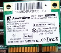 Atacado- AzureWave AW-NE785H AR5B95 AR9285 150Mbps Half Mini PCI-e Wireless Wifi Wifi Card