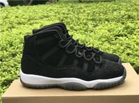 Wholesale High Cut For Womens - 2017 Mens and Womens High Retro 11 Velvet PRM Heiress Black Velvet Heiress GS Basketball Shoes Sports Sneakers for Men Size US8-13