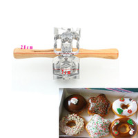 Wholesale Doughnut Mold - Donuts Mold Fried Doughnuts Roller Mold Aluminum Alloy Combine Circular Shaped Hollow Type Donut Cookie Mold Pastry Cake Tools