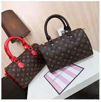 Wholesale Stamping Pvc - Genuine Leather speedy Top quality 30 handbag shoulder bag speedy 25 with strap designer handbags Ladies tote can hot stamping letter(M40390