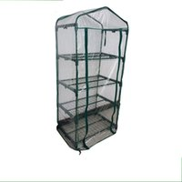 Wholesale garden heating - Mini Garden Greenhouses For Home Rot Proof PVC Greenhouse Easily Assembly Eco Friendly Gardens Tents Top Quality 90cl BCY