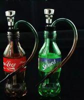 tubo de garrafa de coque venda por atacado-Coca-Cola Garrafa De Água De Vidro Bongos Acessórios, Tubos De Fumo De Vidro colorido mini-multi-cores Mão Tubos Melhor Colher glas