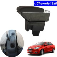 Wholesale Chevrolet Sail - Leather Car Center Console Armrests Storage Box for Chevrolet Sail 2010 2011 2012 2013 2014 Auto Interior Parts Free Shipping