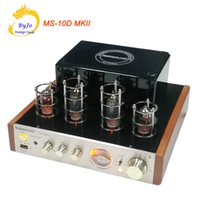 Wholesale Power Amplifier Stereo Amp - Nobsound MS-10D MKII Tube Amplifier Hifi Stereo Audio Power Amplifier 25W*2 Vaccum Tube AMP Support Bluetooth and USB 110V or 220V