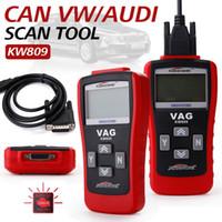 Wholesale Chevy Engines - KONNWEI KW809 Multifunction Scanner OBD2   EOBD Code Card Reader Reading Decoder Engine Fault Diagnostic Car Repair Tool VS VAG405 Free Ship