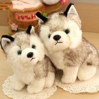 oyuncak köpek köpekleri toptan satış-husky köpek peluş oyuncaklar doldurulmuş hayvanlar oyuncak hobiler 7 inç 18cm Doldurulmuş Artı Hayvanlar Favori EMS Nakliye E1930