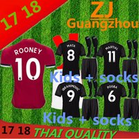 Wholesale Eco Socks - 2018 Thailand Quality Manchesteres United Jersey home away jerseys 17 18 Ibrahimovic MEMPHIS ROONEY POGBA kids + socks jersey