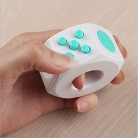 Wholesale Novelty Rings For Adults - Fidget Cube Magic Ring 6 side Upgrade Novelty Toys Anti Stress Anxiety Fidget Finger Toys For Children Student Adult work class home