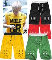 Wholesale Exo Wolf 88 Shorts - Wholesale-Factory directly selling EXO wolf 88 star design casual short KPOP popular short XOXO same style hip hop half short