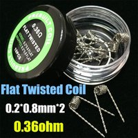 Fused Clapton Coil Hive Premade Wrap Wire Alien Mix Twisted Quad Tiger Flat Twisted Wires 9 Различные сопротивления нагревания 10 шт. / Коробка для Ecig