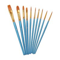 Wholesale 10Pieces Paint Brushes Set for Acrylic Watercolor Acrylics