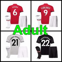 Wholesale Thailand Soccer Jerseys Free Shipping - 2017 2018 best Thailand Quality Jersey home away 3rd jerseys 16 17 UnITED Ibrahimovic MEMPHIS ROONEY POGBA LUKAKU jersey Free shipping kit