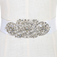 Wholesale Cheap Wedding Dresses For Children - Fashionable Bridal Sashes and Belts Wedding Dress Sash for Wedding Beaded Rhinestone Crystal Wedding Belt Cheap CPA783