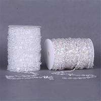 ingrosso acrylic garland-99FT Ghirlanda Diamante Strand Clear Crystal Acrilico 10mm Beads Catena diy Decorazioni per tende da sole decorazioni per feste