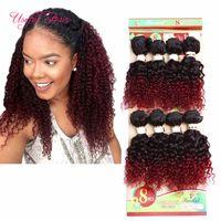 brazilian insan saçı uk toptan satış-İnsan saç 8 paketler renk kahverengi, hata 250 gram ucuz derin dalga Brezilyalı saç uzatma, moğol kıvırcık insan örgü saç AB için, ABD, İNGILTERE kadınlar